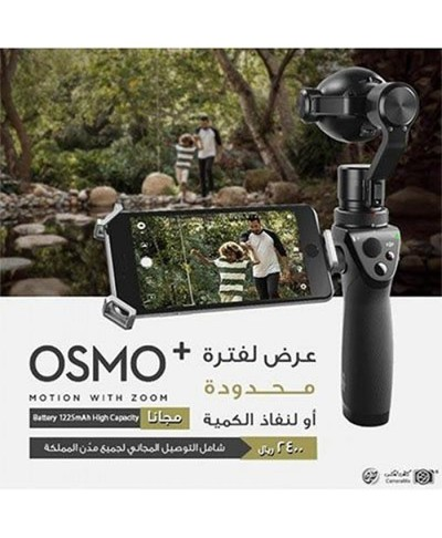 DJI Osmo+ Handheld 4K Camera and 3-Axis Gimbal + DJI Osmo Intelligent Battery High Capacity + Base