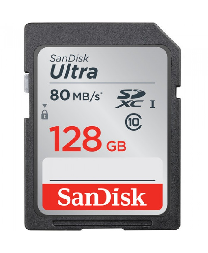 SanDisk 128GB Ultra UHS-I SDHC Memory Card Class 10