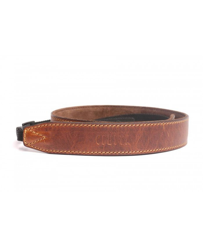 Leather Camera Strap GIANO Red Brown