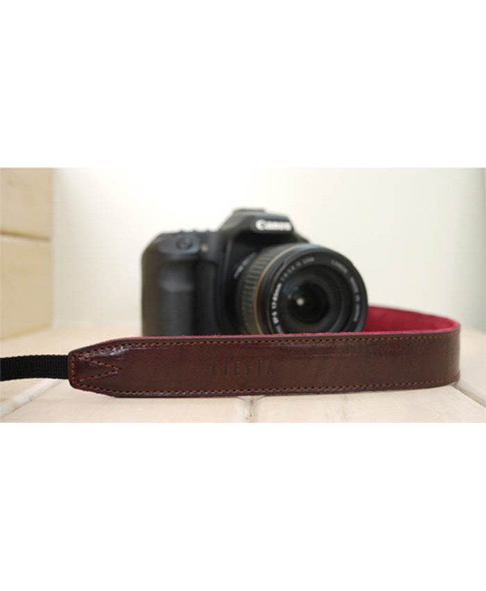 Leather Camera Strap Brown