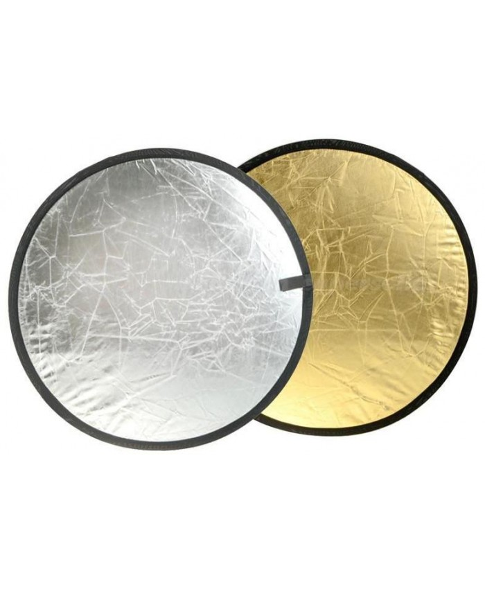 NiceFoto 2 in 1 round reflector Gold / Silver 110cm