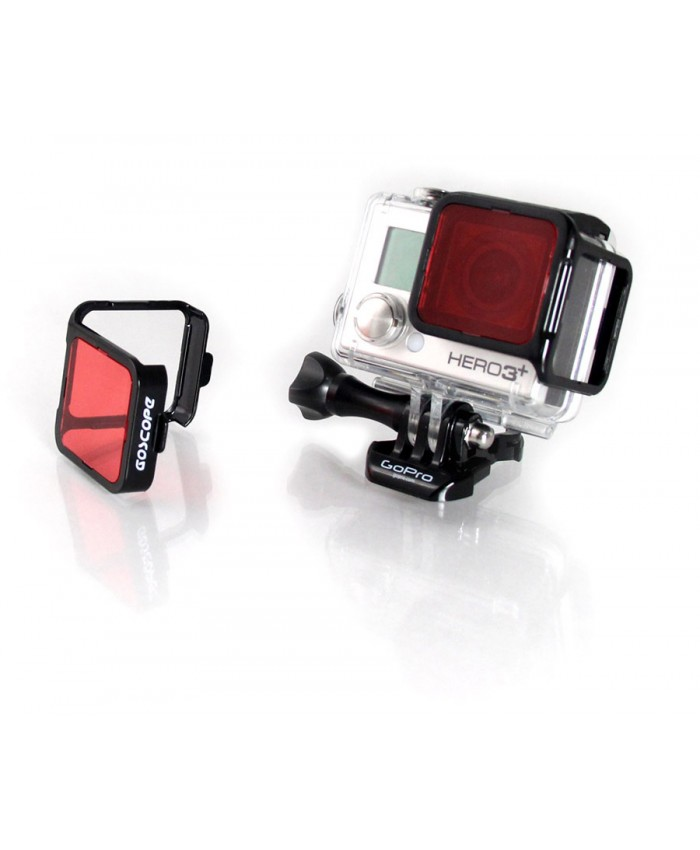 GoScope Red Filter for GoPro Hero3+ & Hero4  (DIVE HOUSING) - 60M