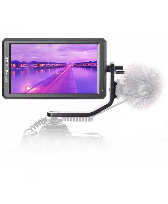 """FeelWorld F6 5.7"""" Full HD HDMI On-Camera Monitor with 4K Support and Tilt Arm"""