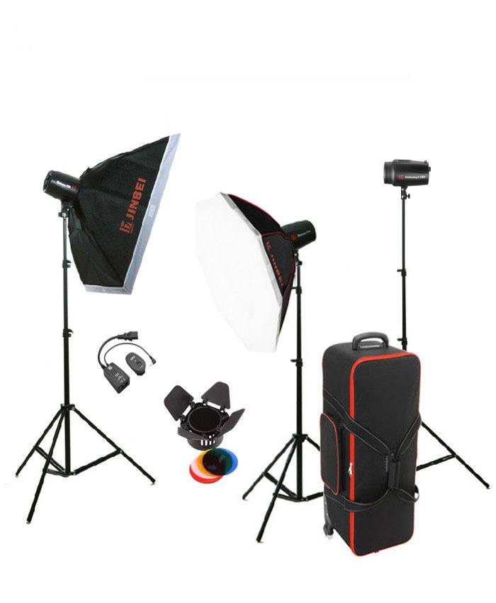 Jinbei DII 250 Studio Flash Kit2 three Heads