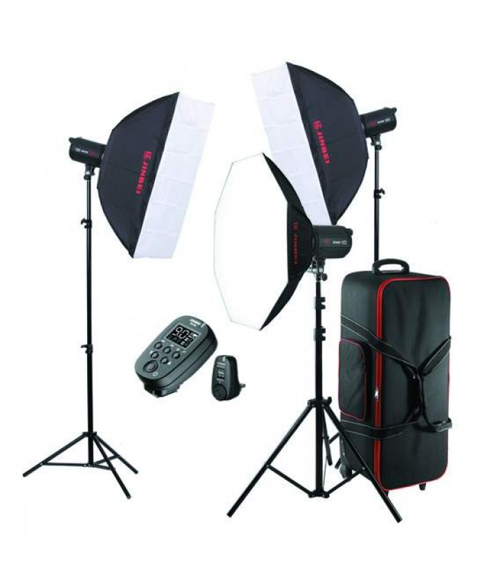 Jinbei Spark III-400 Studio Flash Kit 3 Heads