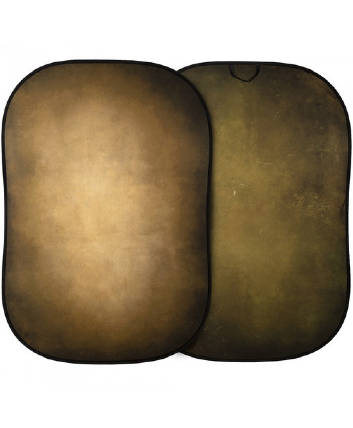Lastolite Vintage Reversible Collapsible Background 5x7', Tobacco/Olive