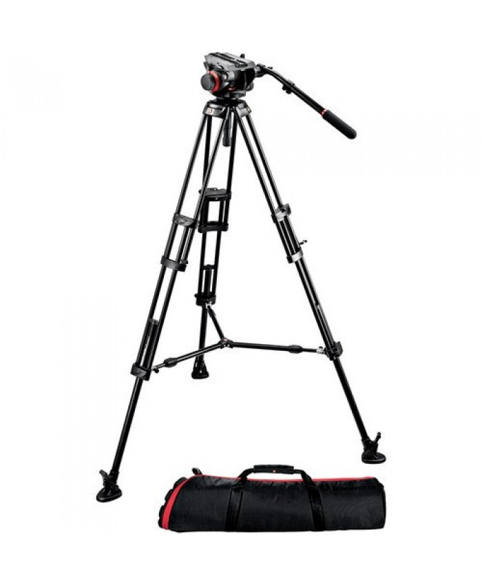 Manfrotto 504HD Head w/546B 2-Stage Aluminum Tripod System