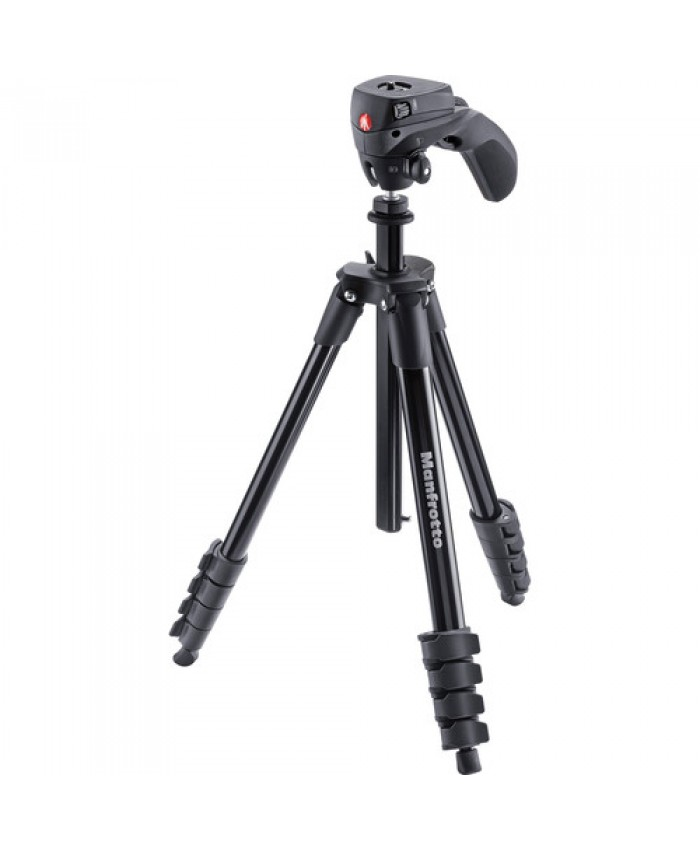 Manfrotto Compact Action Aluminum Tripod Black