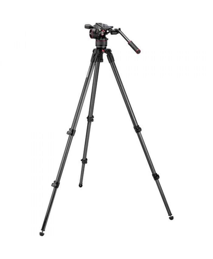 Manfrotto Nitrotech N8 Video Head & 535 Carbon Fiber Tripod