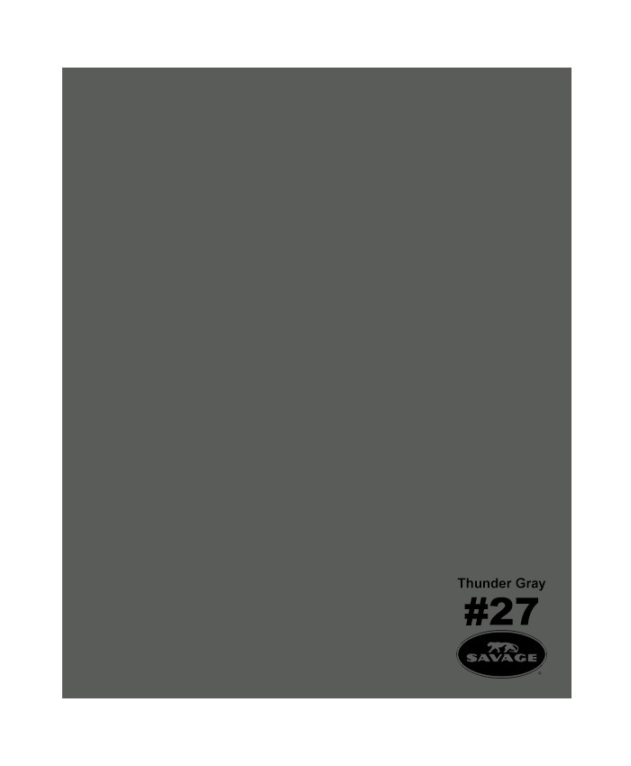 Savage Widetone Seamless Background Paper #27 Thunder Gray 2.7m