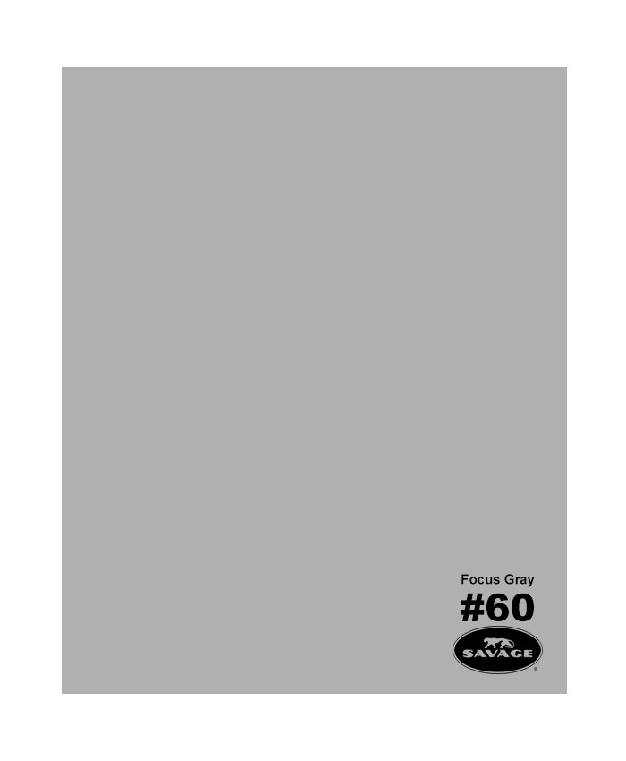 Savage Widetone Seamless Background Paper #60 Focus Gray2.7m