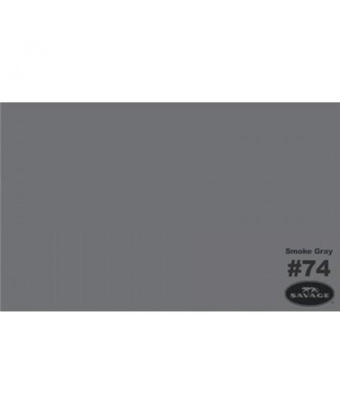 Savage Widetone Seamless Background Paper #74 Smoke Gray 2.7m