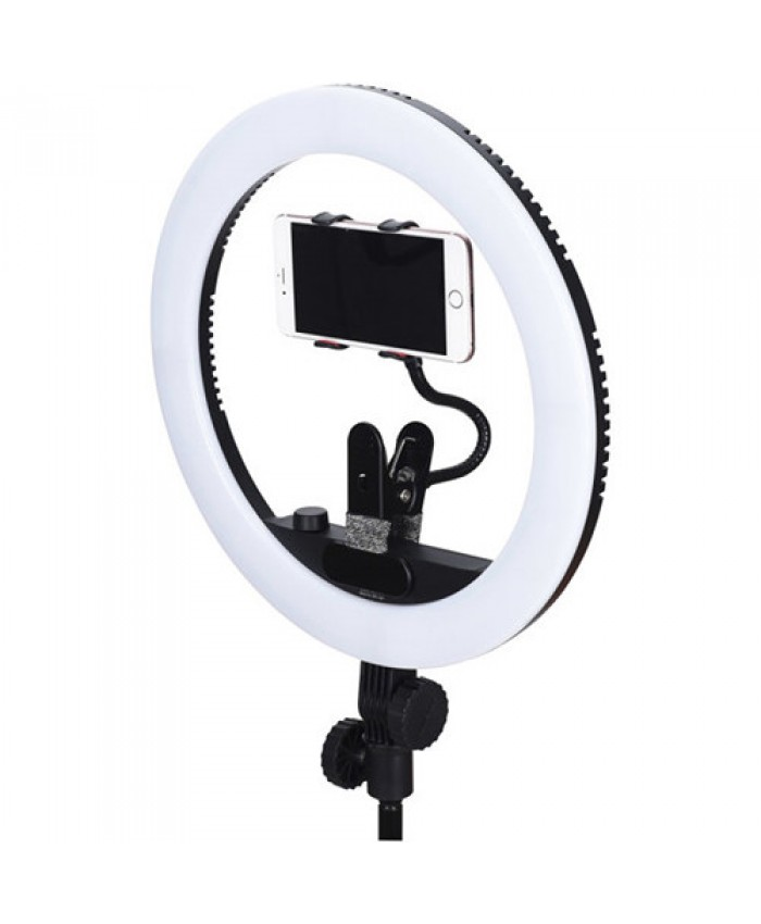 Yongnuo YN408 Bi-Color LED Ring Light with Phone Stand