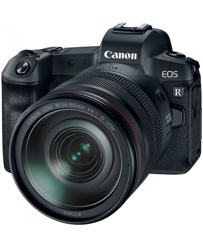 Canon EOS R Mirrorless Digital Camera with 24-105mm + Mount Adapter