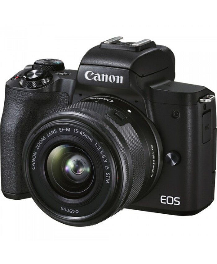 Canon EOS M50 Mark II Mirrorless Digital Camera with 15-45mm Black