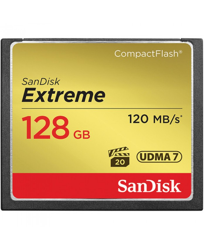 SanDisk Extreme 128GB CompactFlash Memory Card  120 MB/s