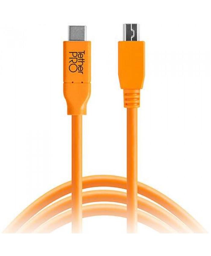 Tether Tools TetherPro USB Type-C Male to 5-Pin Micro-USB 2.0 Type-B Male 4.6m CUC2515-ORG