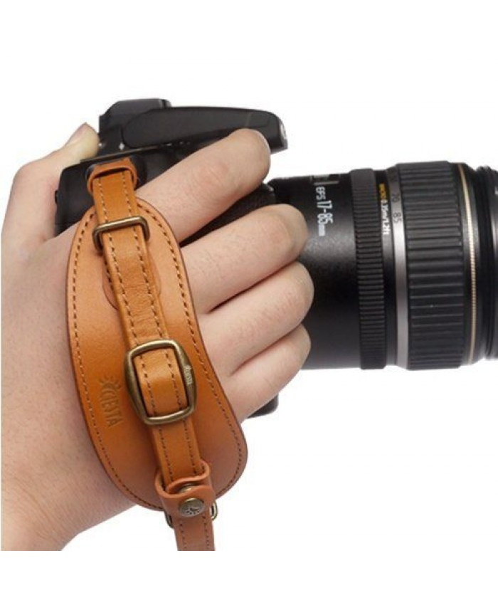 Leather Hand Strap ll Brown