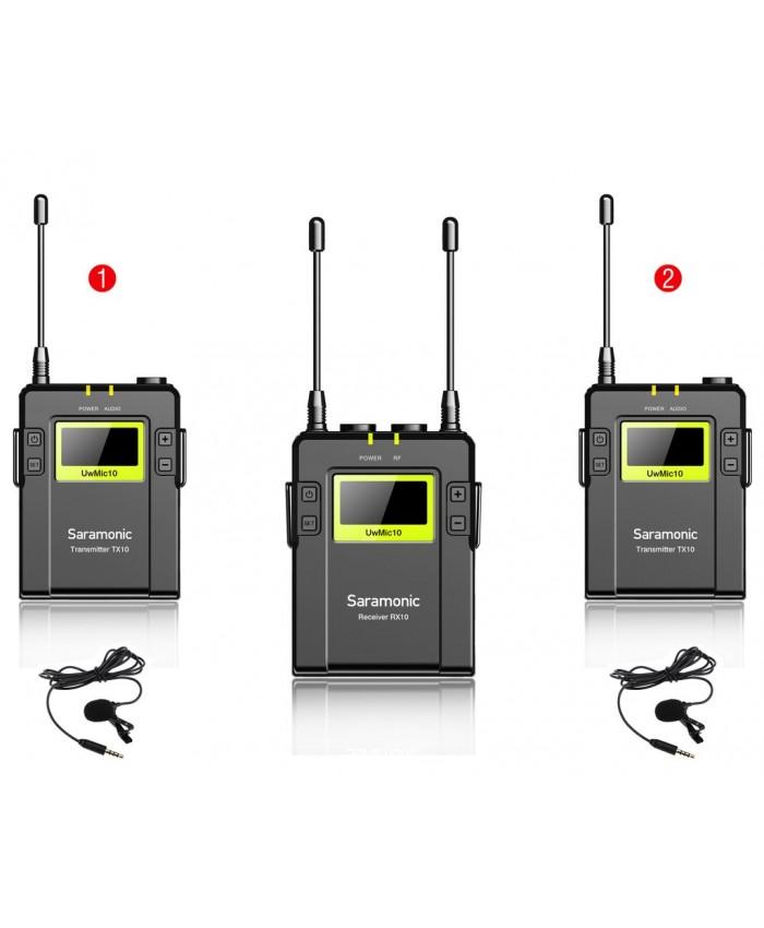 Saramonic UWMIC09 96-Channel UHF Wireless Lavalier Microphone System